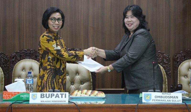 Bolmong Berada di Zona Kuning Hasil Penilaian Ombudsman