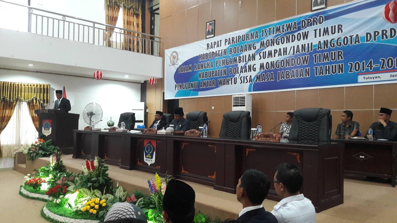 DPRD Boltim Gelar Pelantikan PAW Dua Anggota Dewan
