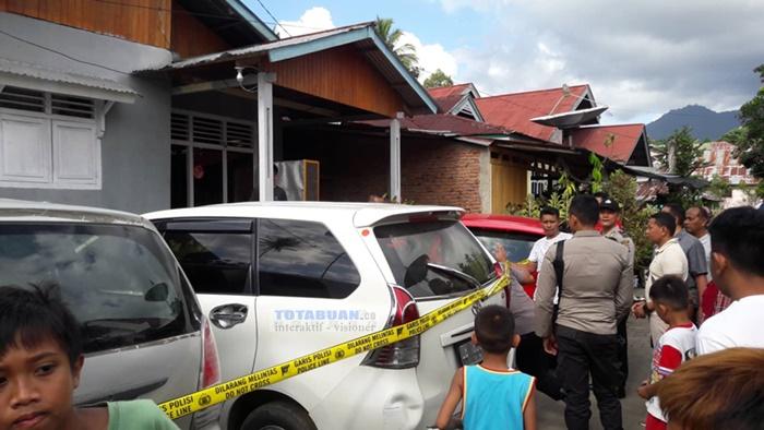 Rumah Milik Bos Donor Uang di Kelurahan Biga Dipolice Line