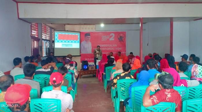 Relawan Herson Mayulu di Kabupaten Bolmut Dapat Pembekalan