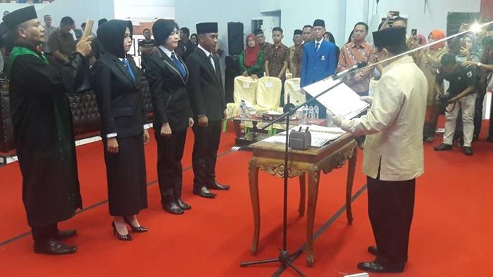 """Meski """"Diabaikan"""" Walikota Kotamobagu Tatong Bara, Tiga Kader PAN Tetap Dilantik Menjadi Anggota DPRD"""