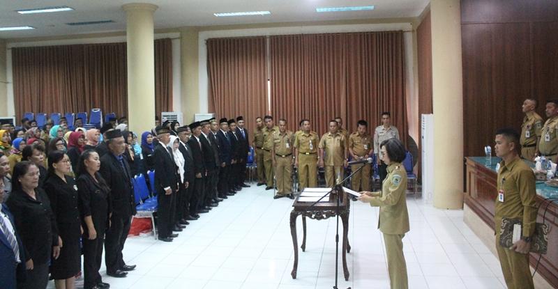 Tingkatkan Kinerja, Bupati Bolmong Mutasi 232 Pejabat Fungsional