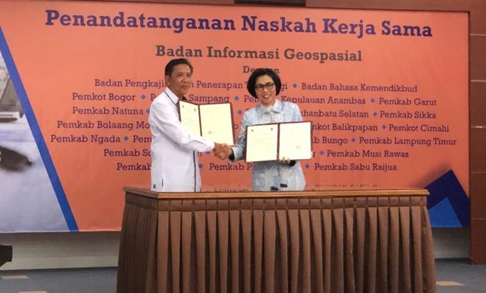 Pemkab Bolmong MoU Dengan Badan Informasi Geospasial