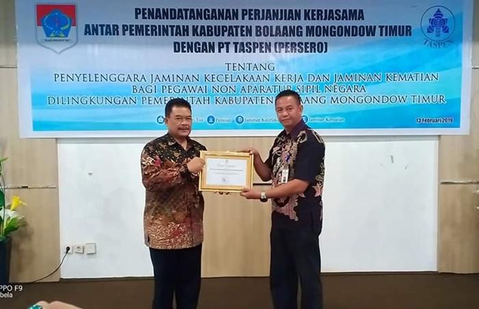 Boltim Terbaik Penyetor Iuran JKK dan JKM Non ASN di Sulut