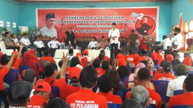 Kampanye di Lolak, Herson Mayulu Bertemu Ribuan Pendukungnya
