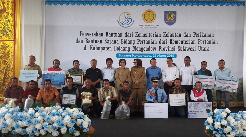 Yasti Berhasil Datangkan Empat Kementrian Bawa Bantuan Untuk Petani dan Nelayan di Bolmong