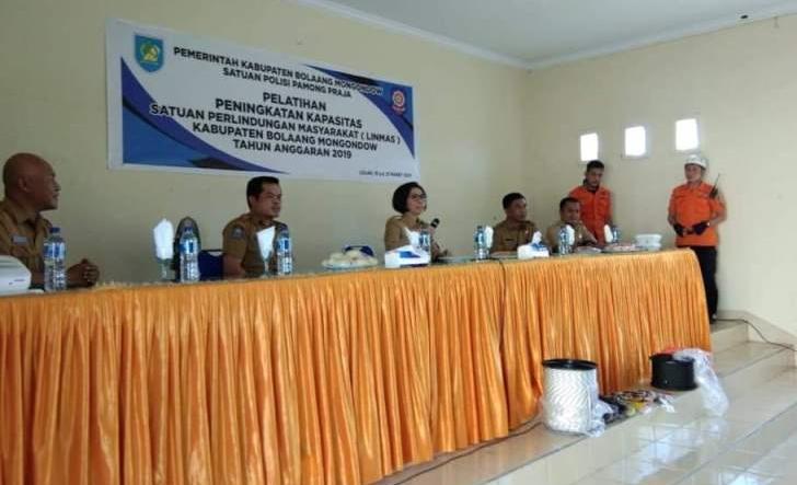 Bupati Bolmong Membuka Pelatihan Satlinmas