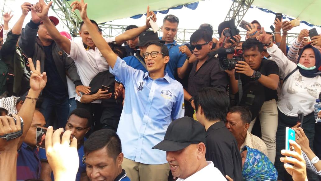 Kampanye di Kotamobagu, Capres Sandiaga Uno Janji Buka Lapangan Kerja di BMR