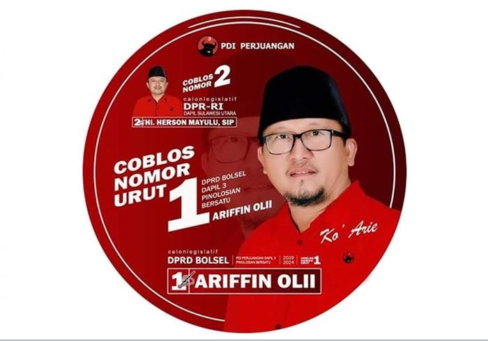 Raih Suara Tiga Ribu, Arifin Olii Ketua DPRD Kabupaten Bolsel