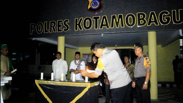 Gandeng Tokoh Agama Polres Kotamobagu Gelar Doa Bersama