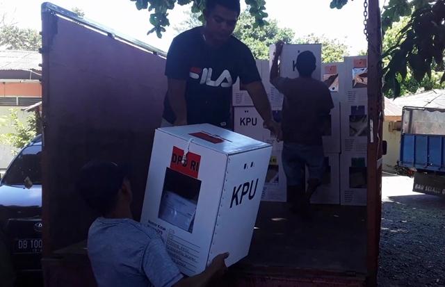 KPU Kotamobagu Distribusi Kotak Suara