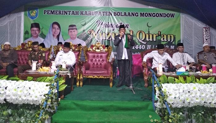 Pemkab Bolmong Bersama Warga Lolayan Peringatan Nuzulul Quran