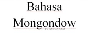 Bahasa Mongondow