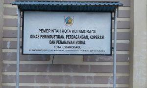 Kantor Disperindagkop-PM Kota Kotamobagu. (f-epi/tco)