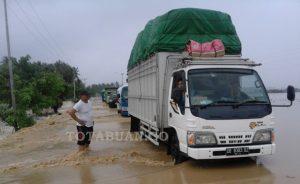 Kondisi banjir yang melanda wilayah Pantura Bolmong