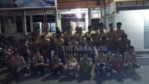 Para pemuda yang terjaring operasi Maleo Polres Bolmong beberapa waktu lalu