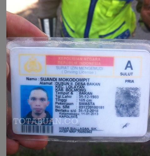Satlantas Polres Bolmong Temukan SIM Palsu