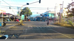 Traffic light di perempatan Ibukota Lolak