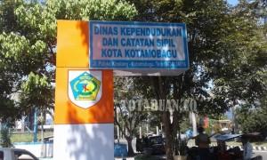 Kantor Dinas Kependudukan dan Catatan Sipil (Dukcapil) Kota Kotamobagu. (f-epi/tco)