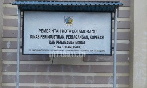 Kantor Disperindagkop-PM Kotamobagu.