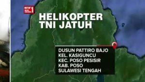 helikopter TNI jatuh diposo