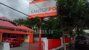 Kantor Pos Kotamobagu Salah Satu Penunggak Pajak Reklame. (f-rez/tco)