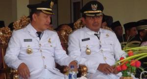 Pasangan Bupati terpilih Rudy Erawan dan Hi Ma'bud  (foto Malut pos)